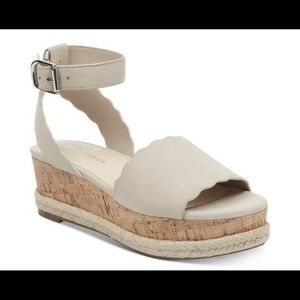 Marc Fisher Faitful Wedge Sandals Leather Upper